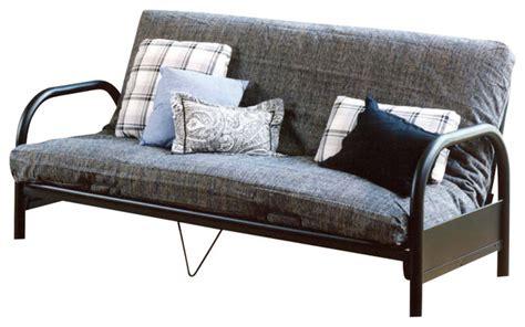 houzz futon geneva metal futon w curved arms contemporary futons