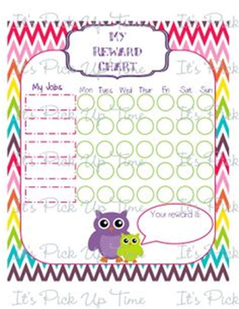 printable owl sticker chart 1000 images about reward chart for girls on pinterest