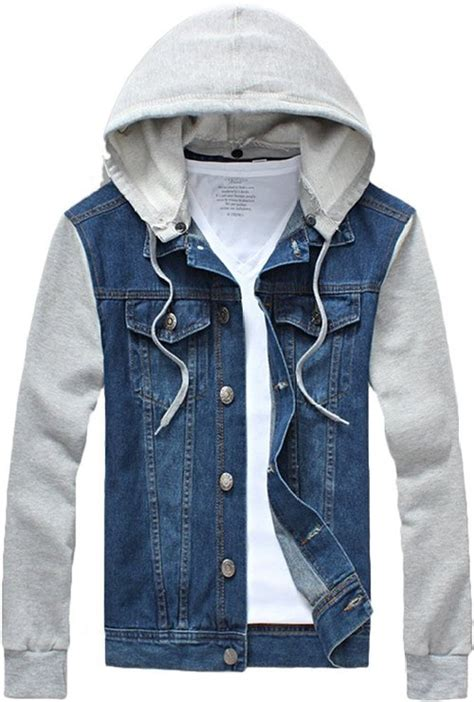 Hoddie Jaket by Jean Jacket Hoodie Mens Clothing