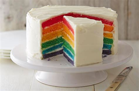Rainbow Cake Cheese Rainbow Cake Tesco Real Food