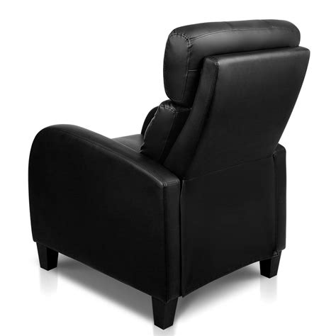 Black Leather Recliner Armchair Faux Leather Armchair Recliner Black