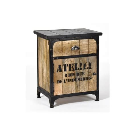 Table De Nuit Style Industriel 2217 by Table De Chevet Industriel