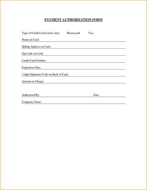 authorization letter for credit card payment 6 payment authorization form authorization letter