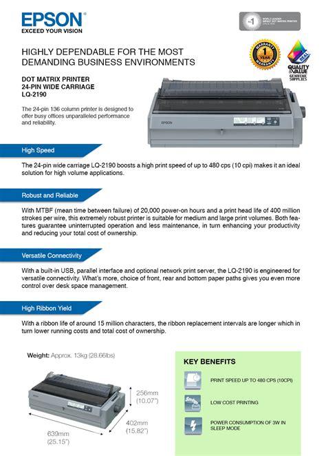 New Kabel Print Epson Lq 2190 1 Set orignal epson lq 2190 24 pin usb end 10 26 2018 12 15 pm