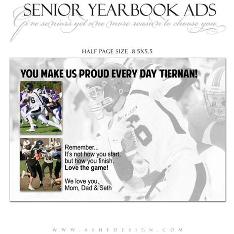 yearbook ad templates for word senior yearbook ads for photoshop game day ashedesign