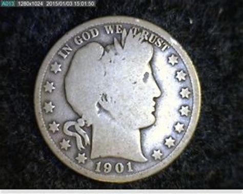 1901 barber liberty head silver half dollar 7615