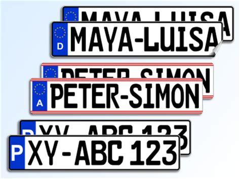 Aufkleber Auto Nummernschild by Satz Nummernschild Und Kennzeichen Aufkleber