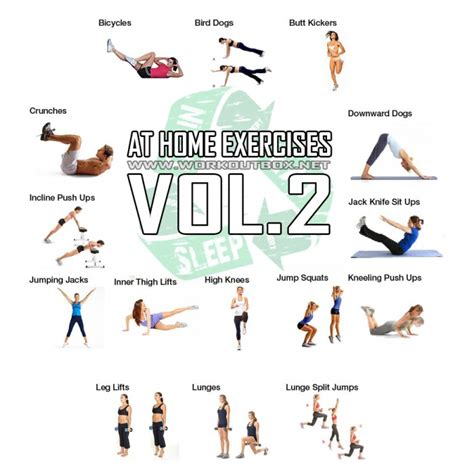 at home exercises vol 2 healthy fitness plan