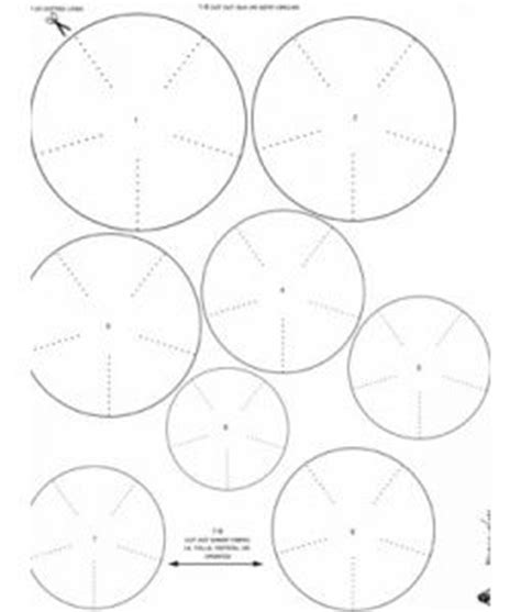 kanzashi flower template 30 best flower template images on paper