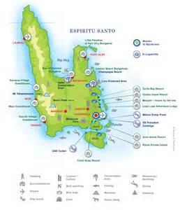santo map wrecks to rainforest tours espiritu santo vanuatu