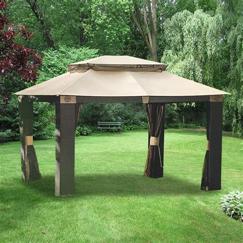 10x12 gazebo privacy curtain garden winds replacement gazebo canopy for gazebos sold at