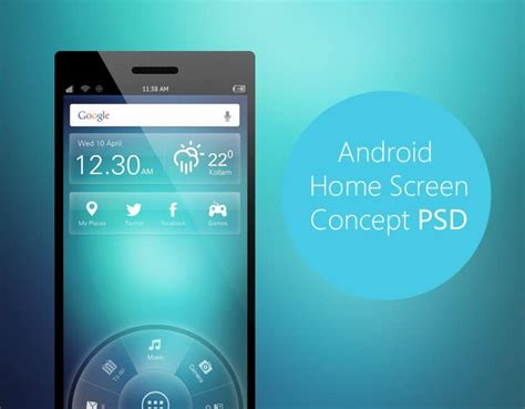 best android home screen designs best free elements for mobile ui designing