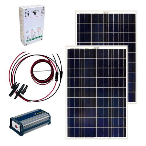 grape solar 200 watt grid solar panel kit gs 200 kit