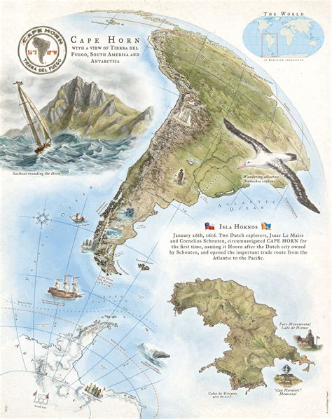 cape horn map how i create cape horn map onez illustration