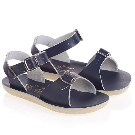 water sandals sun san sandals navy blue leather salt water sandals