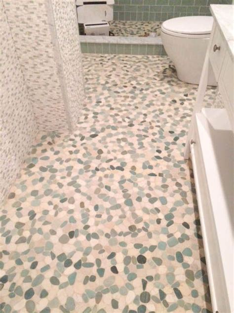 1000 images about bathroom pebble tile and stone tile
