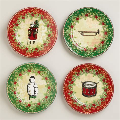 victorian christmas plates set of 4 traditional