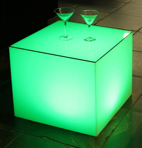Translucent Cube Table   Town & Country Event Rentals