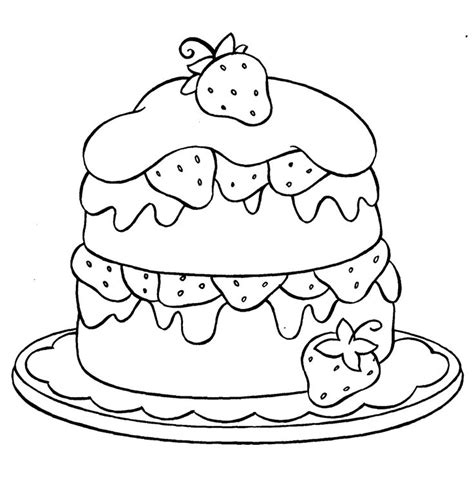 free coloring page of a cake free coloring pages of dessert