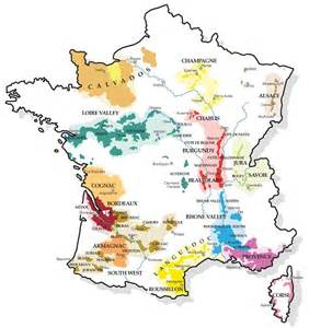 France Wine Regions Map by Map Of French Wine Areas France Amp All Things French
