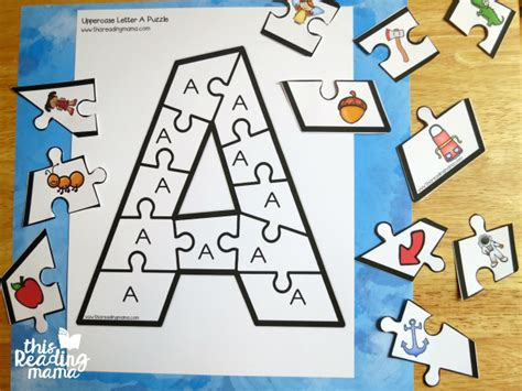 Printable Alphabet Letter Puzzles | printable alphabet puzzles upper and lowercase letters