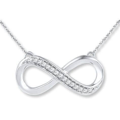 infinity jewelers infinity necklace 1 10 ct tw cut