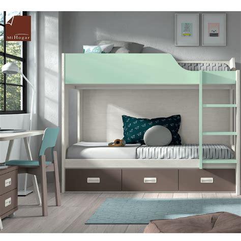 Hermoso  Decoracion Mesas Infantiles #9: Cama-litera-cajones-escalera-dormitorio-juvenil-low-mueblesmihogar.png