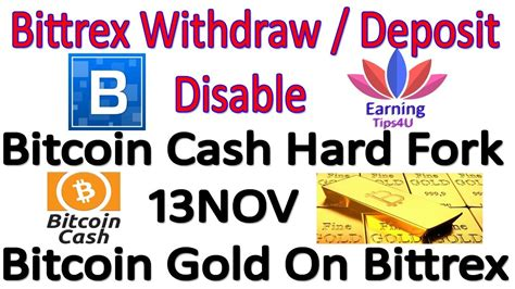 bitcoin gold bittrex bittrex btc withdraw deposit disable bitcoin cash hard