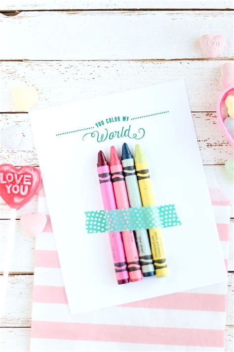 what color is my world you color my world free printable valentines diy