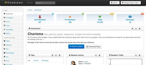 charisma responsive bootstrap admin template