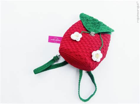 tutorial tas rajut strawberry tas rajut ransel strawberry rajutmerajut
