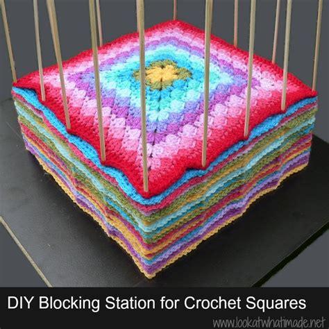 how do you block knitting diy blocking station for crochet squares