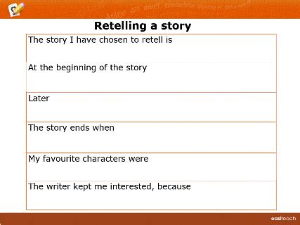 story writing template images