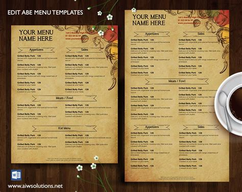 cafe menu design and print menu id27 french restaurant menu restaurant menu