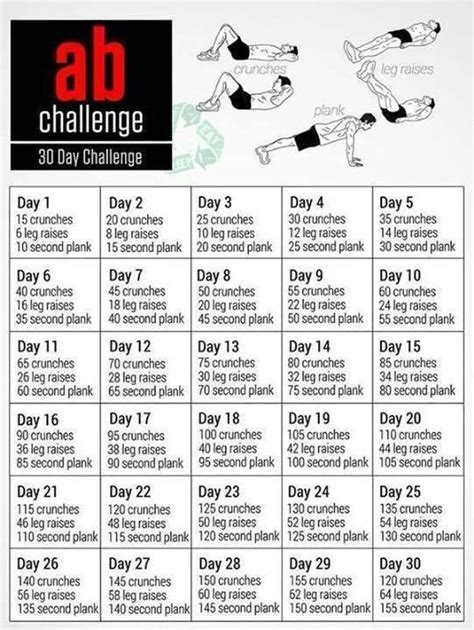 30 day mens ab challenge 30 day ab challenge workouts 30 day 30