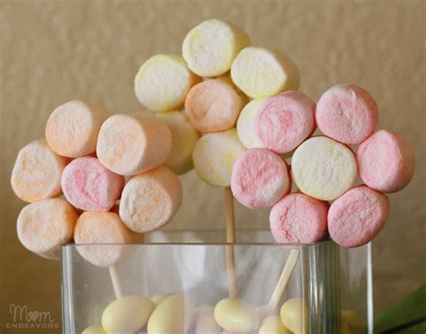 marshmallow crafts for edible craft marshmallow flowers centerpiece