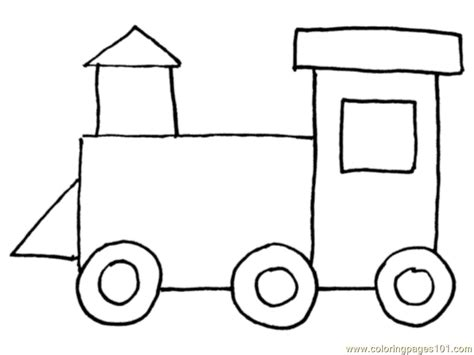 coloring pages of trains with cars free coloring pages of shape