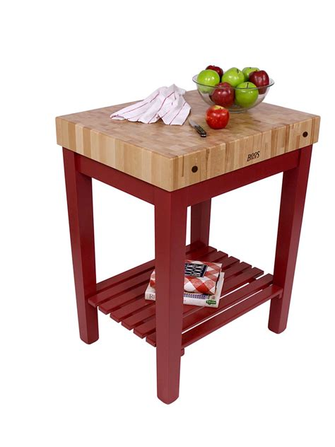 john boos chef s block butcher block kitchen island painted slatted shelf 8 colors on sale