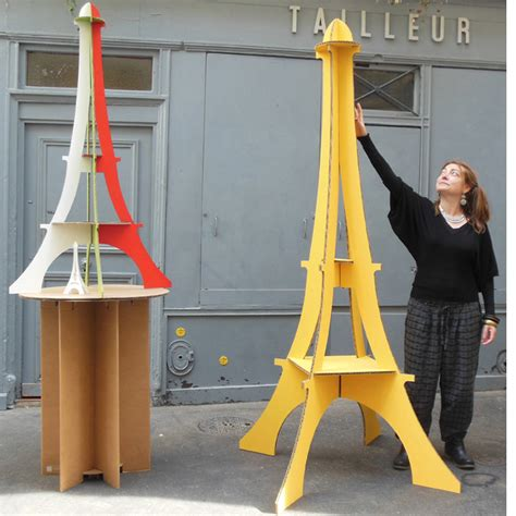 How To Make A Free Standing Paper Tower - cardboard and eiffel towers quart de poil