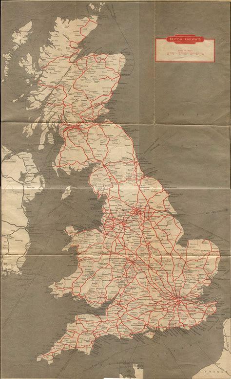 vintage england train route map maps pinterest train route