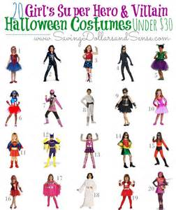 super hero amp villain costumes girls saving dollars amp sense