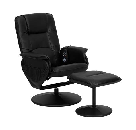 leather recliner and ottoman massaging bonded leather recliner and ottoman by flash