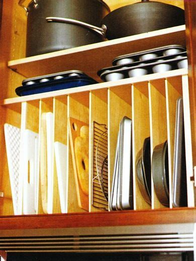 Vertical Shelf Dividers Kitchen by Vertical Cabinet Dividers For Cutting Boards Sheet Pans