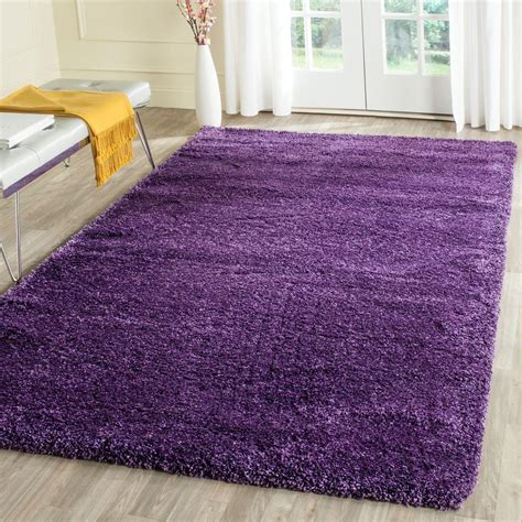 Safavieh Milan Shag Purple 4 Ft X 6 Ft Area Rug Sg180 Purple Rug