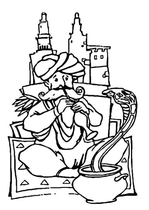 snake charmer coloring page coloring page snake charmer img 22758