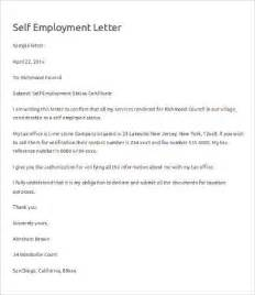 cover letter self employed sle letter of self employment verification cover