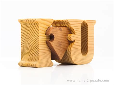 wooden gifts unique 3d name puzzles best personalized