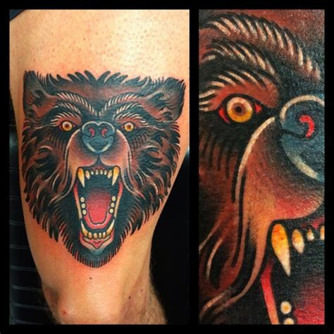 american traditional bear tattoo 45 awesome tattoos