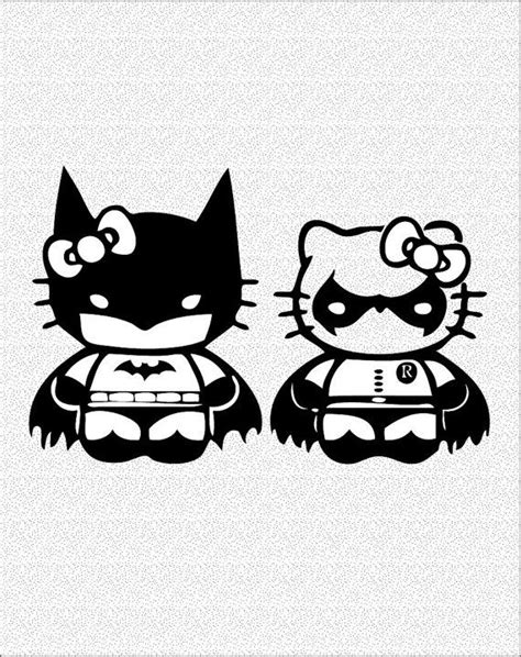 hello kitty batman coloring pages hello kitty batman robin decal vinyl decal for by