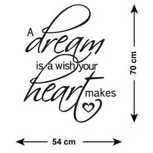 a dream is a wish your heart makes tattoo a is a wish your makes wall sticker decal ebay